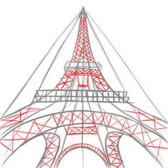 Want to learn how to draw an Eiffel Tower (view from below)? Step 5