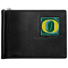 """Checkout our #LicensedGear products FREE SHIPPING + 10% OFF Coupon Code """"Official"""" Oregon Ducks Leather Bill Clip Wallet - Officially licensed College product Genuine fine grain leather wallet Metal, flip out bill clip Slim style wallet  with lots of storage Metal Oregon Ducks emblem with enameled team colors - Price: $22.00. Buy now at https://officiallylicensedgear.com/oregon-ducks-leather-bill-clip-wallet-cbcw50"""