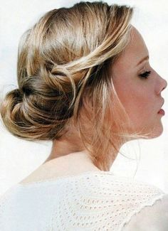 {Best of Beauty} Low chignon bun hairstyle. #updo #hairstyle