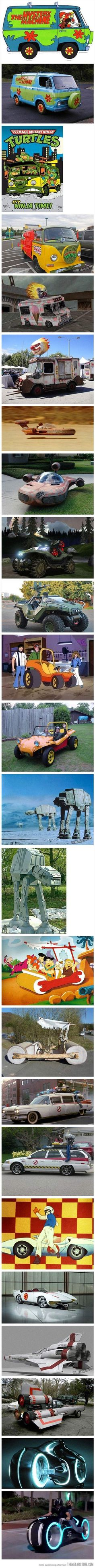 Fictional vehicles made real…