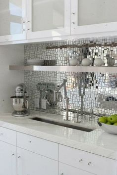 SILVER MIRROR JUMBLED MIX - ONE POUND mosaic tiles - Mosaic Tile Mania