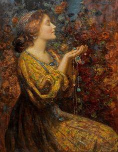 """Jewells"" by Thomas Edwin Mostyn (1864-1930)."