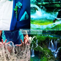 House Osanos, nymphs (control water). Notable Members: Lord Osanos Colors: Blue and Green {Made by Haleth the Hunter}