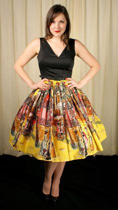 Trashy Diva's French Quarter print Walk in the Park Dress #trashydivafrenchquarterprint #trashydivawalkintheparkdress