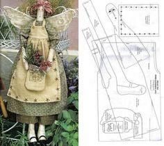 Herb-Gardener usar molde de vestido para tilda