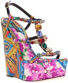 Dolce & Gabbana ~ Printed Wedge Sandal