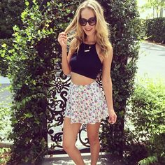 Olivia Jordan in the Stay Tuned Crop Top || Get the top: http://www.nastygal.com/clothes-tops-cropped/stay-tuned-crop-top--navy?utm_source=pinterestutm_medium=smmutm_term=ngdibutm_content=nasty_gals_do_it_betterutm_campaign=pinterest_nastygal