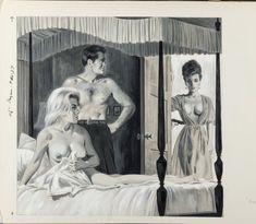 BILL EDWARDS - Run, Pigeon Run - 1964 Pagan interior - item by fineart.ha Magazine Art, Pigeon, Interior, Painting, Indoor, Painting Art, Paintings, Interiors, Painted Canvas