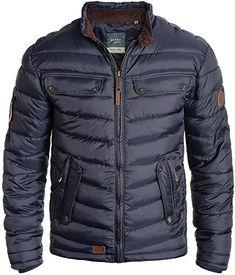 439d4209 Blend Camaro Herren Winter Jacke Steppjacke Winterjacke gefüttert mit  Stehkragen, Größe:S, Farbe