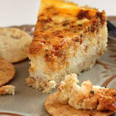 Pesto Cheesecake Appetizer. Making. Stat.