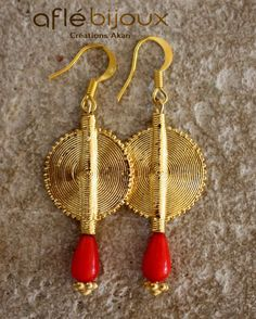 Aflé Bijoux African Earrings: Red Coral Drops Errings by AfleBijoux on Etsy https://www.etsy.com/listing/94864262/afle-bijoux-african-earrings-red-coral