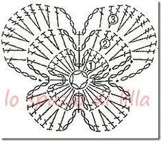 Watch The Video Splendid Crochet a Puff Flower Ideas. Wonderful Crochet a Puff Flower Ideas. Crochet Diagram, Freeform Crochet, Crochet Chart, Crochet Granny, Crochet Motif, Irish Crochet, Crochet Doilies, Crochet Lace, Crochet Stitches
