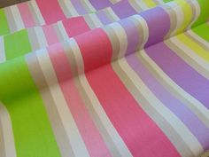 Designers guild Sweet Pea stripe cotton Fabric-remnant pieces craft Project 1.5m