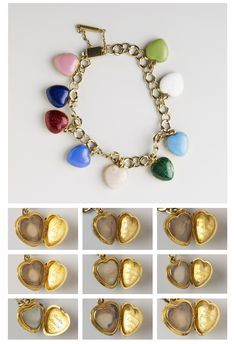 Queen Victoria's charm bracelet: a different color for each of her children designed by Prince Albert.