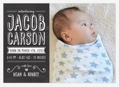 Baby Boy Birth Announcement Love vs Design