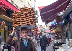 Simit, simit, simit! So yummy. Best Istanbul snack which is sold everywhere. Read more..