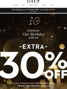 cc792f8b1ff85 We re 10 🎂🎉 + You Get the B day Gift  Extra Off stylish finds - Gilt.  Pavlina Jane · Sale and Black Friday