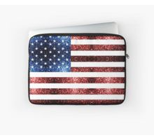 USA flag red blue sparkles glitters Laptop Sleeve by #PLdesign #4thofJuly #sparkles #USASparkles #SparklesGift #redbubble
