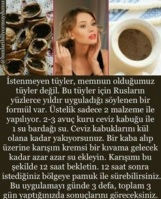 İstenmeyen tüyler ceviz kabuğu su – peri masalı Healthy Beauty, Health And Beauty, Face Care, Body Care, Beauty Secrets, Beauty Hacks, Garlic Health Benefits, Weight Control, Natural Health Remedies