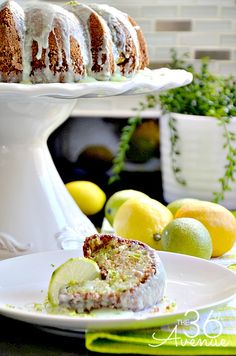 Beyond delicious Key Lime Bundt Cake Recipe... So good! #recipes #cake