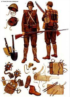 Esercito Imperiale Nipponico - Equipaggiamento di un Soldato semplice di Fanteria di 2a Classe