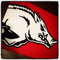 16X20 Razorback hand painted canvas by Robby $40.00 to order 479-670-4668