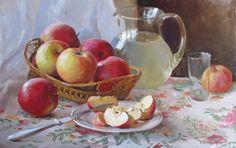 ЯБЛОЧНАЯ / природа, осень, времена года, лето, живопись, яблоки, художники, дары природы, спас, из сети