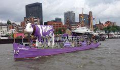 Milka Boat - 825. Harbour Birthday Hamburg Germany