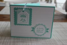 Stampin' Up! Baby Thank You Card