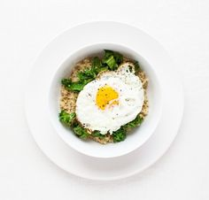 Kale-Quinoa Bowl with Fried Egg