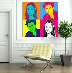 Pop Art vom Foto Warhol (50x50 cm) - PORTOFREI von galleryy GmbH auf DaWanda.com
