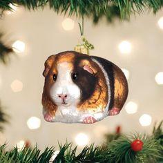 Guinea Pig Old World Christmas Glass Tree Ornament