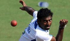 The Sri Lanka legend Muttiah Muralitharan. Photograph: Indranil Mukherjee/AFP/Getty Images