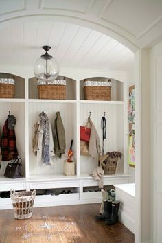 House of Fifty Blog: Room Crush: Mudrooms Love the shoe drawers
