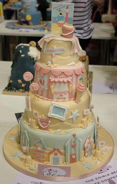 Cake Decorating Competition Uk : 1000+ images about Sandcastle cake on Pinterest Sand ...