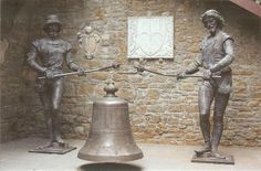 """the originals of the statues of """"Micheze and Jacheze"""" preserved in the castle of San Giusto in Trieste. Their copies are located in the Municipality of Trieste Piazza Unità and mark the hours of the day"""