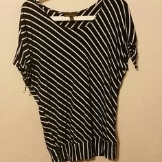 "Spotted while shopping on Poshmark: ""Navy Blue with white stripes w/ties on shoulder""! #poshmark #fashion #shopping #style #Fenn Wright Manson #Tops"