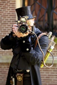Steampunk photographer