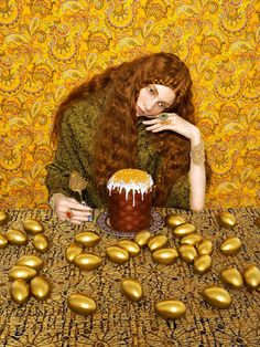 Russian women in folk photography