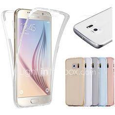 64553f16a Funda Para Samsung Galaxy Samsung Galaxy S7 Edge Transparente Funda de  Cuerpo Entero Un Color TPU para S7 edge / S7 / S6 edge