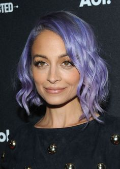We love Nicole Richie's purple hair more and more