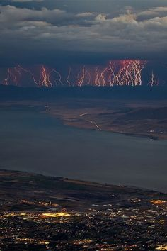 Absolutely Amazing photography storm sky city beautiful nature clouds lightning river amazing