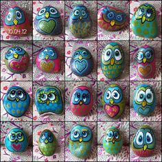 back in April, I painted a few owl pebbles, which I gave away to ...