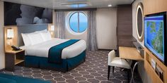 Ocean View Stateroom on Harmony of the Seas (Photo: Royal Caribbean International) SAVE Crucero Royal Caribbean, Crystal Cruises, Harmony Of The Seas, Royal Caribbean International, Sea Photo, Cruise Travel, Adventure Travel, Relax, Ocean