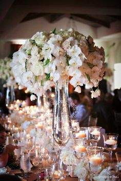 White roses, white orchids, white tulips. Holy. Gorgeous. (Karen Tran. We are forever pining for your florals.)
