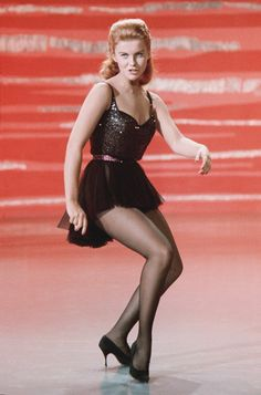 """Fiery redheaded dynamo Ann-Margret and her smokin' hot pantyhose legs performing onstage in 1962 musical film """"State Fair"""". This girl knows how to light up a crowd! Hollywood Glamour, Hollywood Stars, Hollywood Actresses, Classic Hollywood, Actors & Actresses, Divas, Ann Margret Photos, Claudia Cardinale, Natalie Wood"""