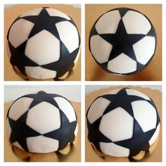 Champions league ball cake Champions League, Soccer Ball, Party, Cakes, Tutorials, Blue Prints, Food Cakes, Futbol, Pastries