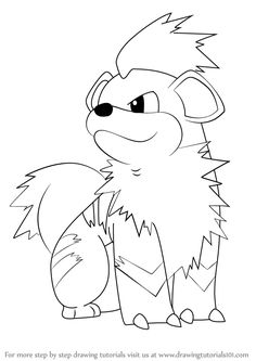 Learn How to Draw Growlithe from Pokemon (Death Note) Step by Step ...