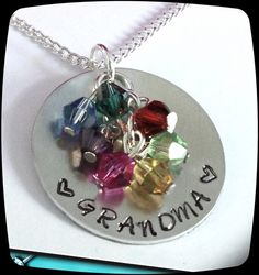SALE Grandma Necklace  Personalized Jewelry  by ThatKindaGirl, $19.98