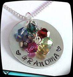 SALE Grandma Necklace  Personalized Jewelry  by ThatKindaGirl, $19.98